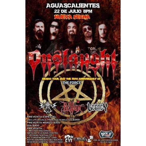 Onslaught Aguascalientes 22 Julio Bar Rock Si