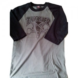 ▷ Playera De Thrasher Gris (On Demand)
