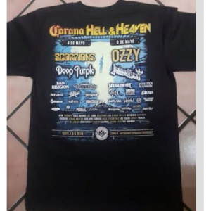 Playera Corona Hell and Heaven 2018