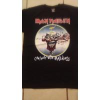 Iron Maiden Can I Play With Madness - Playera Manga Corta