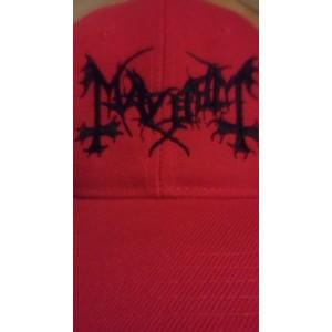 Mayhem Black Metal Gorra Bordada Negro Con Rojo ¡Envios Gratis en Mexico!